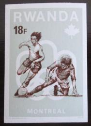 Poštovní známka Rwanda 1976 LOH, fotbal neperf. Mi# 804 B Kat 9.70€