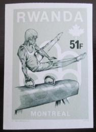 Poštovní známka Rwanda 1976 LOH, gymnastika neperf.Mi# 806 B Kat 27.20€