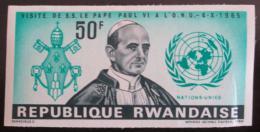 Poštovní známka Rwanda 1966 Papež Pevel VI. neperf. Mi# 156 B Kat 10.50€
