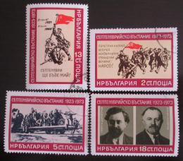 Poštovní známky Bulharsko 1973 Záøiová revoluce Mi# 2258-61