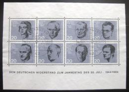 Poštovní známky Nìmecko 1964 Osobnosti Mi# Block 3 Kat 15€