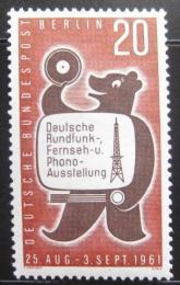 Poštovní známka Západní Berlín 1961 Berlínský medvìd Mi# 217