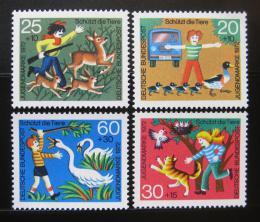 Poštovní známky Nìmecko 1972 Ochrana zvíøat Mi# 711-14