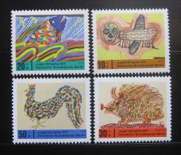 Poštovní známky Západní Berlín 1971 Dìtské kresby Mi# 386-88