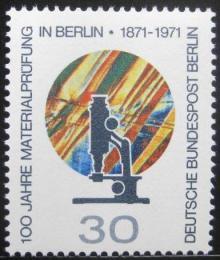 Poštovní známka Západní Berlín 1971 Testovací laboratoø Mi# 416