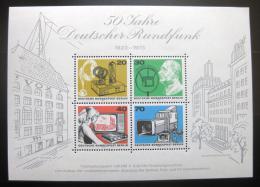 Poštovní známka Západní Berlín 1973 Nìmecké rádio, 50. výroèí Mi# Block 4