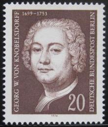 Poštovní známka Západní Berlín 1974 Knobelsdorff, malíø Mi# 464