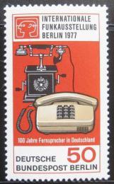 Poštovní známka Západní Berlín 1977 Výstava telefonù Mi# 549