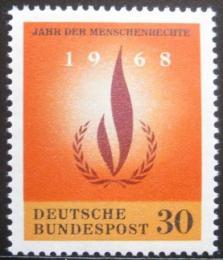 Poštovní známka Nìmecko 1968 Lidská práva Mi# 575