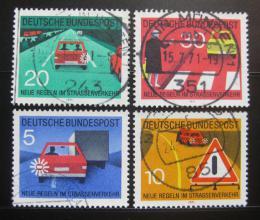 Poštovní známky Nìmecko 1971 Pravidla silnièního provozu Mi# 670-73