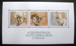 Poštovní známky Nìmecko 1978 Spisovatelé Mi# Block 16