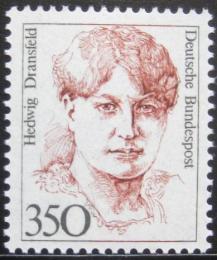 Poštovní známka Nìmecko 1988 Hedwig Dransfeld, politièka Mi# 1393