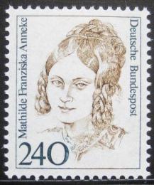 Poštovní známka Nìmecko 1988 Mathilde F Anneke Mi# 1392