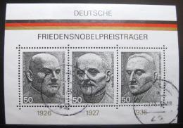 Poštovní známky Nìmecko 1975 Držitelé Nobelovy ceny Mi# Block 11