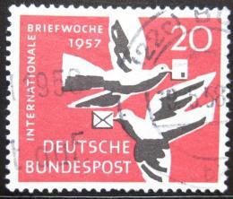 Poštovní známka Nìmecko 1957 Týden psaní Mi# 276