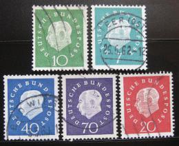 Poštovní známky Nìmecko 1959 Prezident Theodor Heuss Mi# 302-06