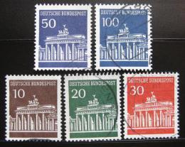 Poštovní známky Nìmecko 1966-67 Brandenburská brána Mi# 506-10