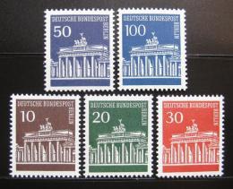 Poštovní známky Západní Berlín 1966-67 Brandenburská brána Mi# 286-90 Kat 7.50€