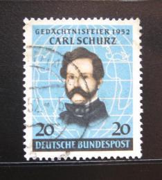 Poštovní známka Nìmecko 1952 Carl Schurz, politik Mi# 155