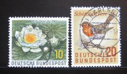Poštovní známky Nìmecko 1957 Fauna a flóra Mi# 274-75