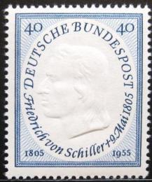 Poštovní známka Nìmecko 1955 Friedrich Schiller Mi# 210 Kat 18€