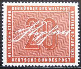 Poštovní známka Nìmecko 1956 Heinrich von Stephan Mi# 227 Kat 8€