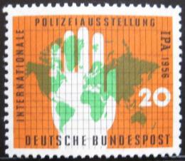 Poštovní známka Nìmecko 1956 Policejní výstava Mi# 240