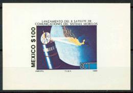 Poštovní známka Mexiko 1985 Satelit Morelos Mi# Block 32