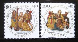 Poštovní známky Nìmecko 1993 Vánoce Mi# 1707-08