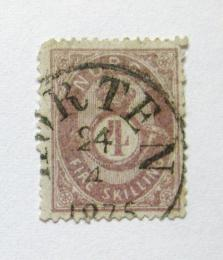 Poštovní známka Norsko 1875 Post Horn Mi# 19 e Kat 60€