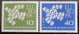 Poštovní známky Nìmecko 1961 Evropa CEPT Mi# 367-68