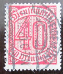 Poštovní známka Nìmecko 1920 Nominální hodnota, služební Mi# 28