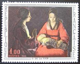 Poštovní známka Francie 1966 Novorozenì, de La Tour Mi# 1552
