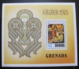Poštovní známka Grenada 1975 Umìní, Botticelli, velikonoce Mi# Block 44