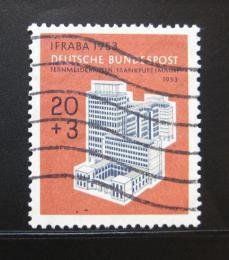 Poštovní známka Nìmecko 1953 Telekomunikace Mi# 172 Kat 28€