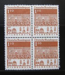 Poštovní známky Nìmecko 1966 Hildesheim, ètyøblok Mi# 501