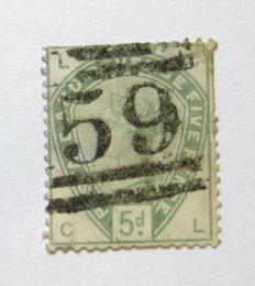 Poštovní známka Velká Británie 1884 Viktorie, poškozená Mi# 78 Kat 160€