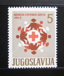 Poštovní známka Jugoslávie 1965 Èervený køíž, pošt. Mi# 31