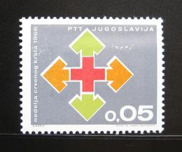 Poštovní známka Jugoslávie 1966 Èervený køíž, pošt. Mi# 32