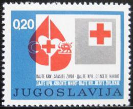 Poštovní známka Jugoslávie 1974 Èervený køíž, pošt. Mi# 46