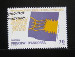 Poštovní známka Andorra Šp. 1998 Poštovní muzeum Mi# 261
