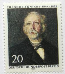 Poštovní známka Západní Berlín 1970 Theodor Fontane, spisovatel Mi# 353