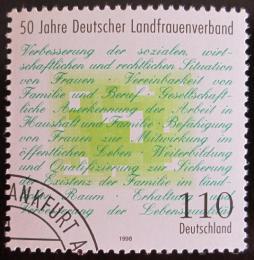 Poštovní známka Nìmecko 1998 Ženy z venkova Mi# 1988