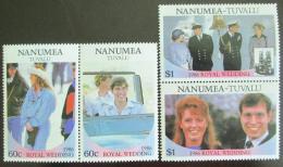 Poštovní známky Tuvalu Nanumea 1986 Královská svatba Mi# 84-87