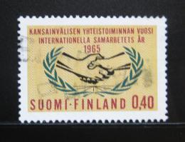 Poštovní známka Finsko 1965 Rok mezinárodní spolupráce Mi# 597
