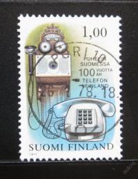 Poštovní známka Finsko 1977 Telefony Mi# 821