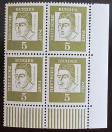 Poštovní známky Nìmecko 1961 Albertus Magnus, ètyøblok roh Mi# 347