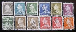 Poštovní známky Dánsko 1961-63 Král Frederik IX SC# 382-85,387-94