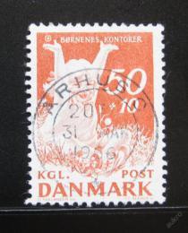 Poštovní známka Dánsko 1965 Š�astné dìti Mi# 436