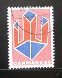 Poštovní známka Dánsko 1969 Abstraktní umìní Mi# 486